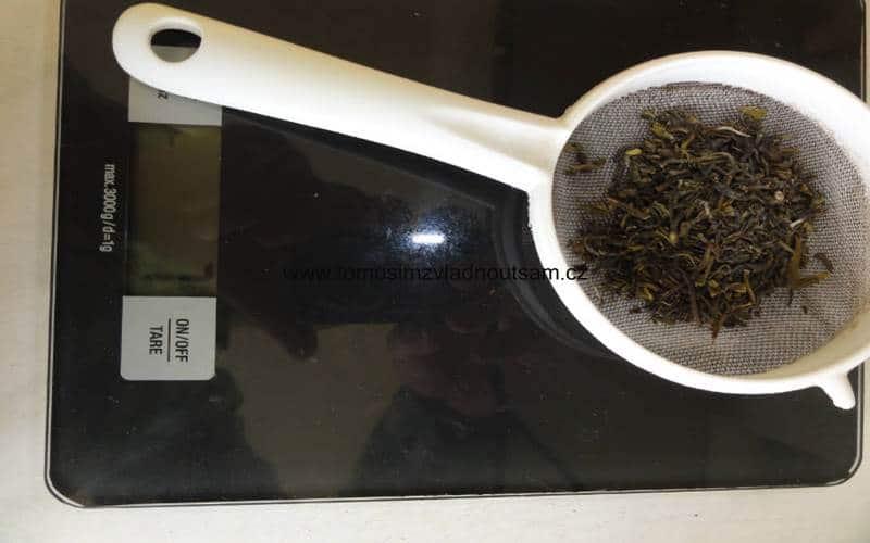 odvážení zel.čaje